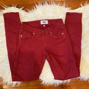 """Paige Red """"Verdugo Ultra Skinny"""" Jeans"""